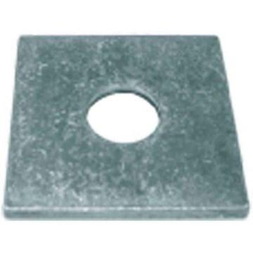 Square Plate Washer Plain 1/2 X 2 X 2 X1/8Thk