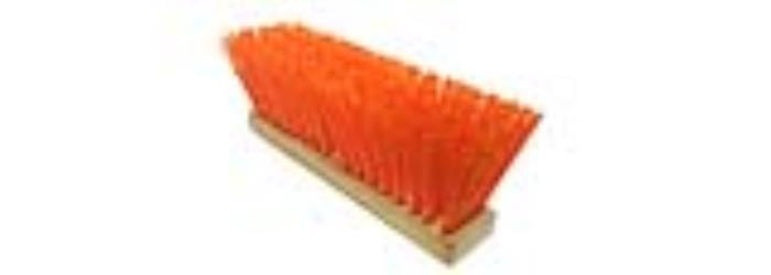 "Head Only 16/"" Orange Street Broom Poly Bristles Magnolia 1316-O"
