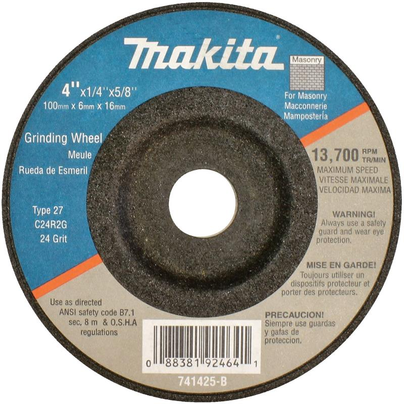 General Purpose Metal 5//Pk Makita 741402-9AP 4 x 5//8 x 1//4 Grinding Wheel 24 Grit