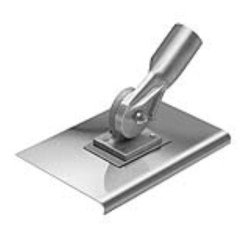 Kraft Tool CC037 10''x10'' SS Walking Edger 1/2''R W/ Hdl SKt - Edgers