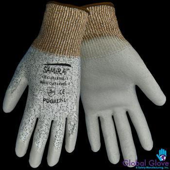 8d2a87d000e Samurai Gray Polyurethane Dip Palm Glove