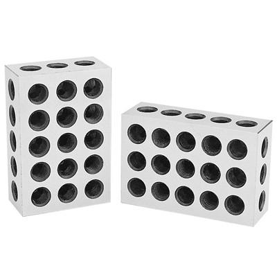 TIN COATED ABS 3402-0905   PRECISION 1-2-3 BLOCK SET WITH 23 HOLES,