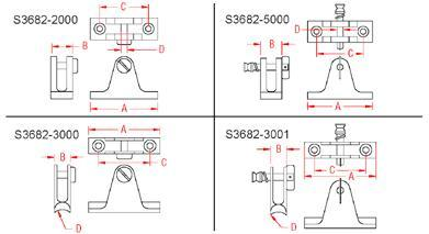 S3682-3000 STAINLESS CONCAVE DECK HINGE